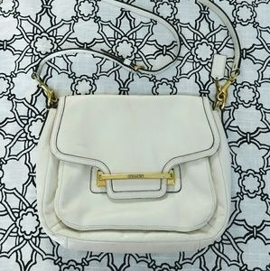 Coach Taylor ivory white crossbody flap front bag